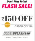 Flash Sale Rs. 150 off on orders of Rs. 299