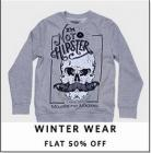 Flat 50% off or more