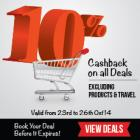 10% Cash Back Excluding Product & Travel [23rd-26th Oct]