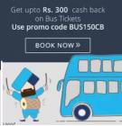 Get upto Rs 300 cashback on bus tickets
