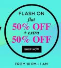 Flash on Sale Flat 50% off + Extra 50% off