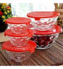 Roxx Dotty Bowl Red Set 5 Pcs