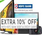 Extra 10% off on HDFC Bank Debit & Credit Cards