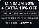 Flat 50% + Extra 10% OFF