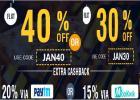 Flat 40% + 20% off on online order food