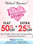 Flat 50% Off + Extra 25% off