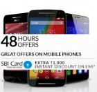 Extra Rs. 1000 discount on Mobile Phones on EMI