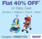 Flat 40% off on Baby Gear