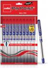 Cello Pinpoint Ball Pen Set - Pack of 10 (Blue)