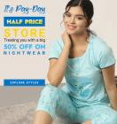 Min. 50% Off On Nightwear