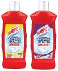 Harpic Disinfectant Bathroom Cleaner - Lemon 1 L + Floral 1 L
