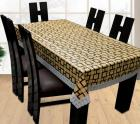 Yellow Weaves Printed 6 Seater Table Cover  (Mutlicolor, PVC)