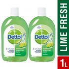 Dettol Disinfectant Multi-Purpose Liquid Lime Fresh- 500 ml(Pack of 2)