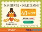 40% off on all food orders (Maximum discount of Rs.100)
