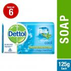 Dettol Cool Soap, 125 g (Pack Of 6)
