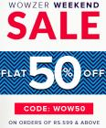 Flat 50% off Sitewide