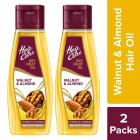 Hair & Care Walnut & Almond,Non-Sticky Hair Oil, 500 ml (Pack of 2)