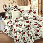 Story@Home Floral 100% Cotton Double Bedsheet With 2 Pillow Covers