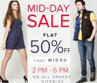 Flat 50% off in Mid-Day Sale