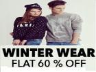 Winter wear Flat 60% off