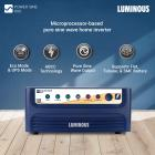 Luminous Power Sine 800 Pure Sine Wave Inverter for Home, Office, and Shops (Blue)