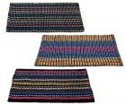 """Story@Home Traditional Style Eco Series 3 Piece Cotton Blend Door Mat Set - 16""""x24"""", Multicolour"""