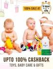 100% cashback on Toys, baby care & gifts Live