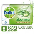 Dettol Soap - 100 g (Pack of 8, Aloe Vera)