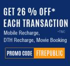 26% Off On Mobile & DTH Recharge