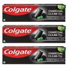 Colgate Charcoal Clean Toothpaste, Bamboo Charcoal and Mint - 120 g (Pack of 3)