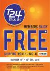 Free shopping at Bigbazaar for T24 members only till 13th December