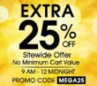 Additional 25% off  Sitewide