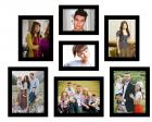 Swadesi Stuff Latest Design Classic set of 7 Individual Family Wall Hanging Collage Photo Frame