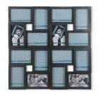@Home Cluster Plastic Collage Photo Frame (3 cm x 57.51 cm x 57.99 cm, Black)