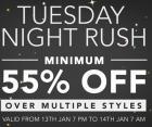Minimum 55% off Over Multiple styles