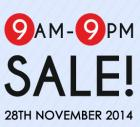 Season of 9s SALE from 9 am to 9 PM