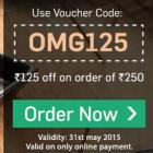 Get Rs .125 off on order of Rs. 250 at Foodpanda