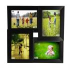 WENS 4-Picture MDF Photo Frame (13.5 inch x 13.5 inch, Black)
