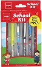 Cello School Kit Pen Set - Pack of 6 (Multicolor)