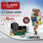 Sunday Flea market with offers & discounts