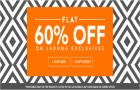 Flat 60% off on Men & Women Clothing