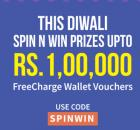 Recharge with Rs 50 on Freecharge & get free token