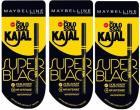 Maybelline Colossal Kajal Super Black Pack Of 3  (Black)