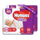 Huggies Wonder Pants Extra Small Size Diaper Pants Combo Pack of 2, 24 Counts Per Pack (48 Counts)
