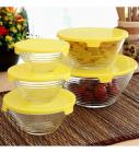 Roxx Stripes Bowl Clear & Yellow Set