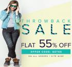 FLAT 55% OFF! Throwback Thursday Extended
