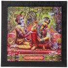 SAF Radha Krishna Wall Art Painting (Synthetic, 30 cm x 3 cm x 30 cm)