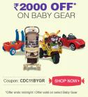 Rs 2000 off on selected baby gear